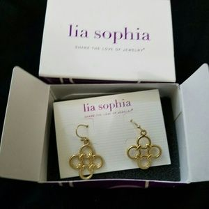 NIB Lia Sophia Gold Earrings